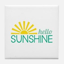 Hello Sunshine Tile Coaster