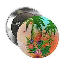 """Tropical summer design 2.25"""" Button"""