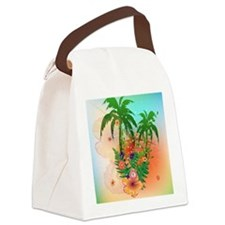 Tropical summer design Canvas Lunch Bag