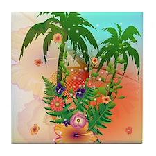 Tropical summer design Tile Coaster