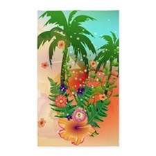 Tropical summer design 3'x5' Area Rug