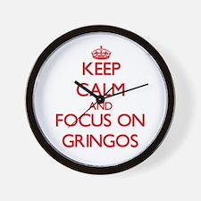 Unique I heart gringos Wall Clock