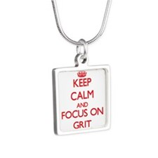 Keep Calm and focus on Grit Necklaces