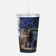 Flower Cat Acrylic Double-wall Tumbler