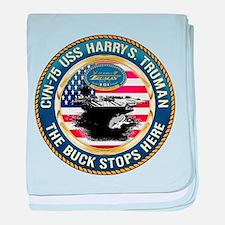 CVN-75 USS Harry S. Truman baby blanket