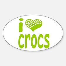 I love Crocs Oval Decal