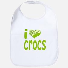 I love Crocs Bib