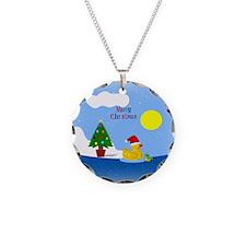 Unique Merry christmas Necklace Circle Charm