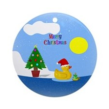 Funny Duckies Round Ornament