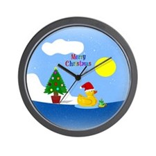 Cute Rubber duckie Wall Clock