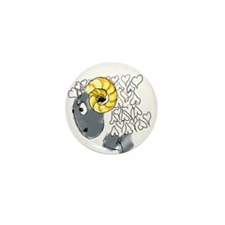 Angry Ram Mini Button (10 pack)