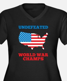 Undefeated World War Champs Plus Size T-Shirt
