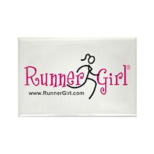 RunnerGirl Rectangle Magnet -pb