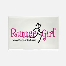 RunnerGirl Rectangle Magnet -pb