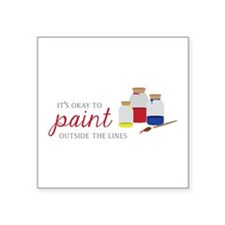Paint Outside Lines Sticker