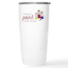 Paint Outside Lines Travel Mug