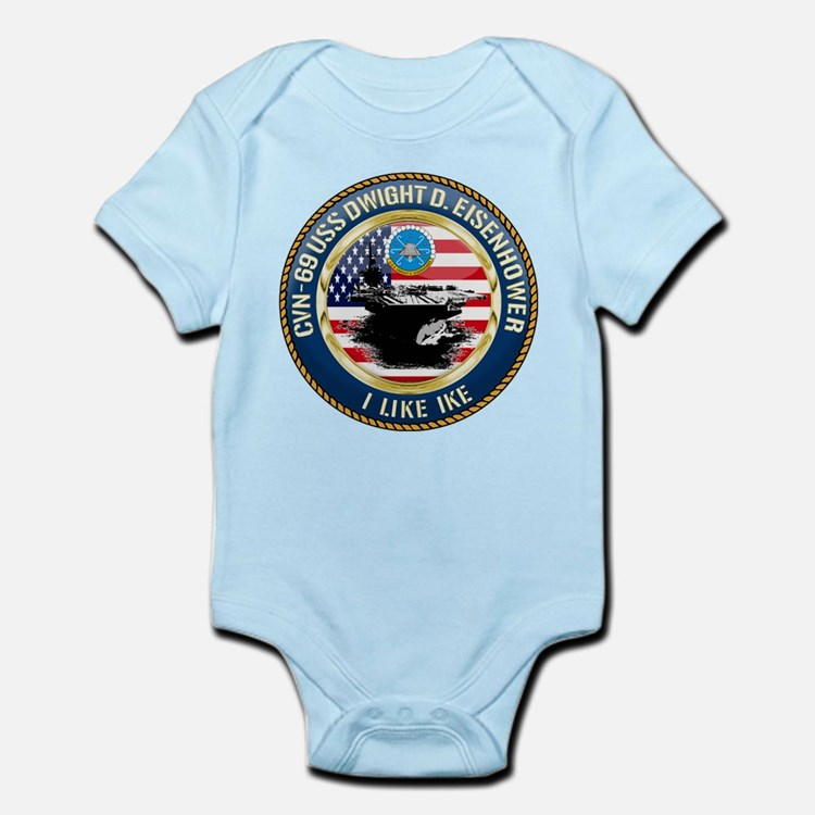 CVN-69 USS Eisenhower Infant Bodysuit