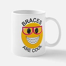 Braces Are Cool Smiley / Pink Glasses Mug Mugs