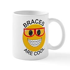 Braces Are Cool Smiley / Red Glasses Mug Mugs