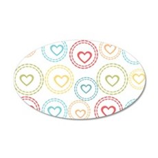 Cute Hearts Pattern Wall Decal