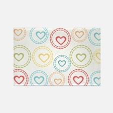 Cute Hearts Pattern Rectangle Magnet