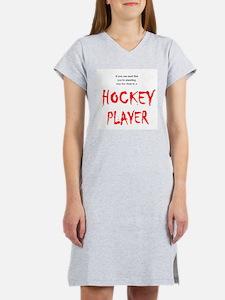 Hockey Player Women's Nightshirt