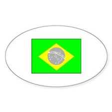Brazilian Pride Oval Decal
