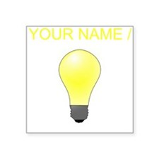 Custom Lightbulb Sticker