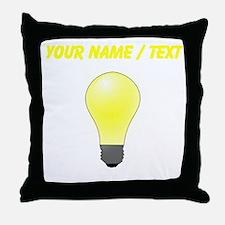 Custom Lightbulb Throw Pillow