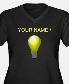 Custom Lightbulb Plus Size T-Shirt