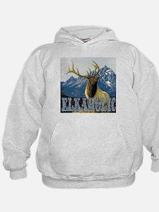 Teton Elk elkaholic gifts  Hoodie