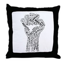 NO JUSTICE NO PEACE Fist Throw Pillow