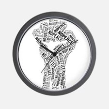 NO JUSTICE NO PEACE Fist Wall Clock