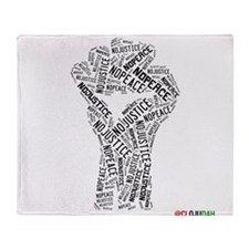 NO JUSTICE NO PEACE Fist Throw Blanket