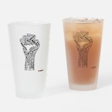 NO JUSTICE NO PEACE Fist Drinking Glass