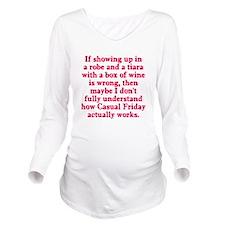 Casual Friday Long Sleeve Maternity T-Shirt