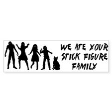 Zombies ate stick figures Bumper Bumper Sticker