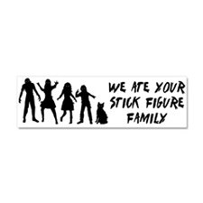 Zombies ate stick figures Car Magnet 10 x 3