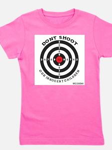 Don't Shoot Children Bullseye Girl's Tee