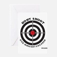 Don't Shoot Children Bullseye Greeting Cards