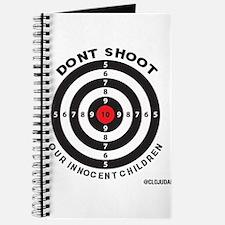 Don't Shoot Children Bullseye Journal