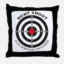 Don't Shoot Children Bullseye Throw Pillow