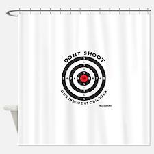 Don't Shoot Children Bullseye Shower Curtain