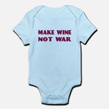 FIN-make-wine-war-4LINES.png Infant Bodysuit