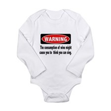 FIN-warning-wine-sing.png Long Sleeve Infant Bodys