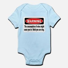 FIN-warning-wine-sing.png Infant Bodysuit