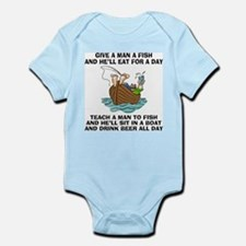 FIN-teach-man-fish-... Infant Bodysuit