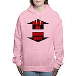FIN-beer-in-beer-out.png Women's Hooded Sweatshirt