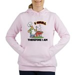 FIN-grill-therefore-i-am.png Women's Hooded Sweats