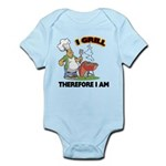 FIN-grill-therefore-i-am.png Infant Bodysuit
